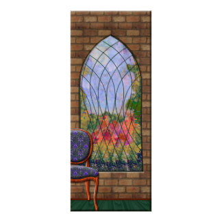 View Of The Garden Through Chapel Window Poster