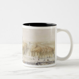 View of the Gardens and the Chateau of Versailles Two-Tone Coffee Mug