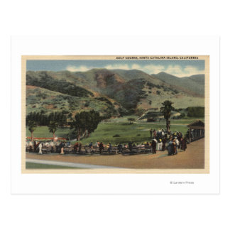 View of the Golf Course Postcard