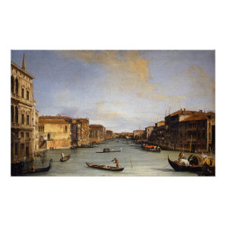 View of the Grand Canal, Venice - Canaletto Poster