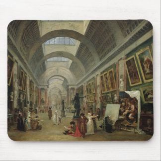 View of the Grand Gallery of the Louvre, 1796 Mouse Pad