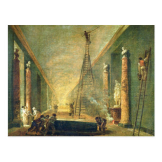 View of the Grand Gallery of the Louvre Postcard