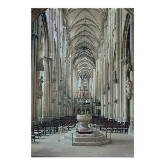 View of the interior looking east, begun 1230 poster