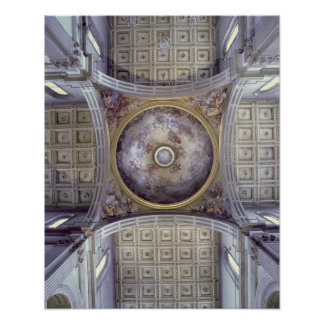 View of the interior of the cupola, built in 1425- poster