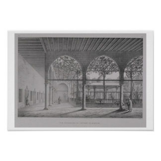 View of the interior of the Dervish Convent, in Ca Posters