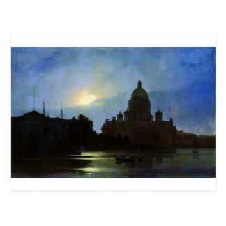 View of the Isaac Cathedral at Moonlight Night by Postcard