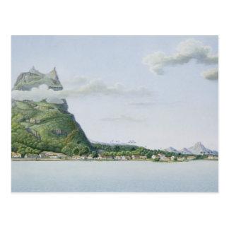 View of the Island of Bora Bora, from 'Voyage auto Postcard