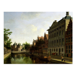View of the Kloveniersburgwal in Amsterdam Postcard