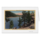 View of the Lake through the Pines Card