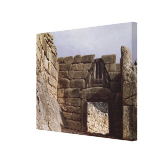 View of the Lion Gateway Canvas Print