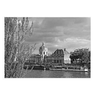 View of the Louvre from the banks of the Seine Photo Print
