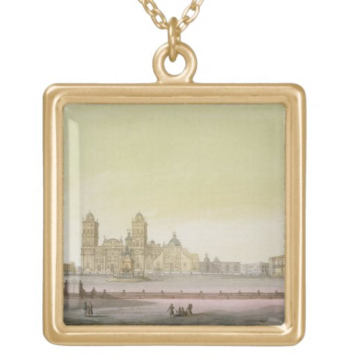 View of the main square in Mexico City (colour eng Pendant