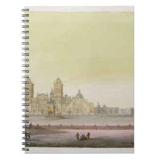 View of the main square in Mexico City (colour eng Note Book