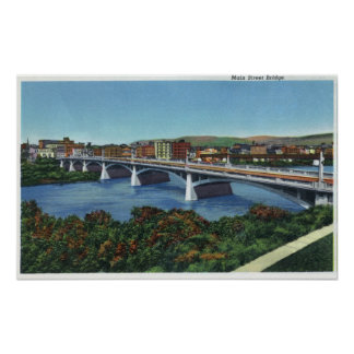 View of the Main Street Bridge Poster