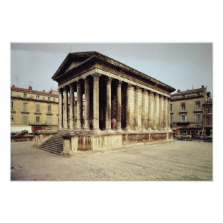 View of the Maison Carree, c.19 BC Poster
