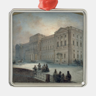 View of the Mariinsky Palace in Winter, 1863 Silver-Colored Square Ornament