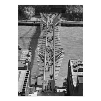 View of the Millennium Bridge Photo Print