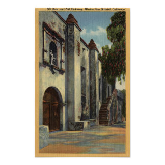 View of the Mission's Doors & Stairway Poster