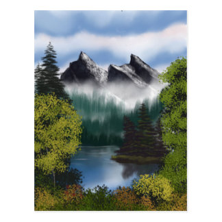 View of the Misty Mountains Postcard
