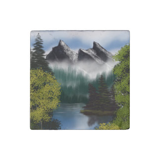 View of the Misty Mountains Stone Magnets