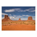 View of the Mittens, Monument Valley Poster