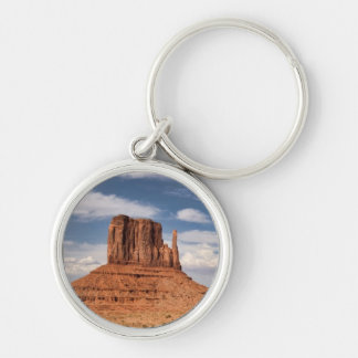View of the Mittens, Monument Valley Silver-Colored Round Keychain