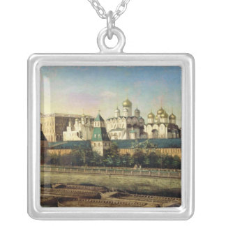 View of the Moscow Kremlin from the Embankment Silver Plated Necklace