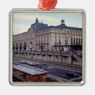 View of the Musee d'Orsay from the north-west Silver-Colored Square Ornament