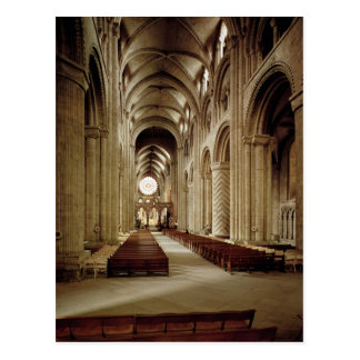 View of the nave, built 1093-1289 postcard