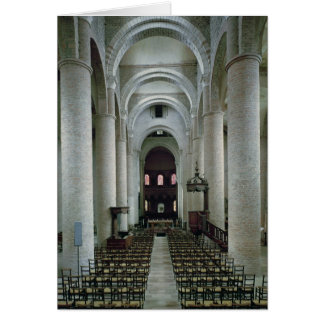 View of the nave, looking towards the altar card