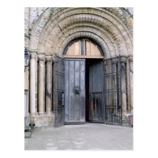 View of the North Door of Durham Cathedral Postcard