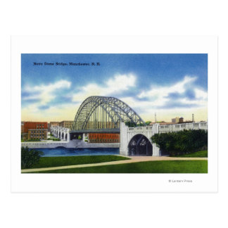 View of the Notre Dame Bridge Postcard