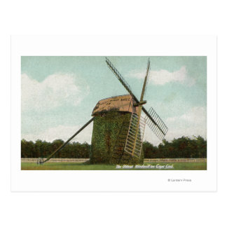 View of the Oldest Windmill on Cape Cod Postcard