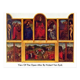 View Of The Open Altar By Hubert Van Eyck Postcard