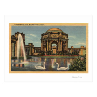 View of the Palace of Fine Arts Postcard