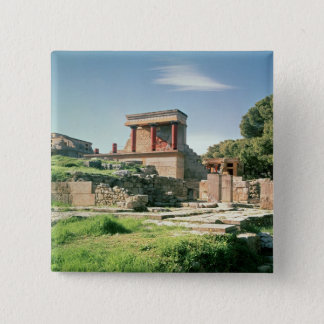 View of the Palace of Knossos 2 Inch Square Button