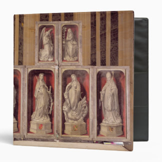 View of the panels of the closed altarpiece binders