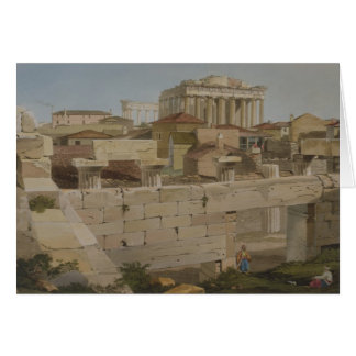 View of the Parthenon from the Propylaea, plate 7 Card