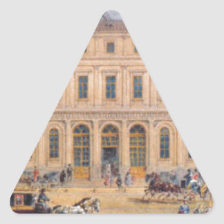 View of the Passazh department store in 1848 Triangle Sticker