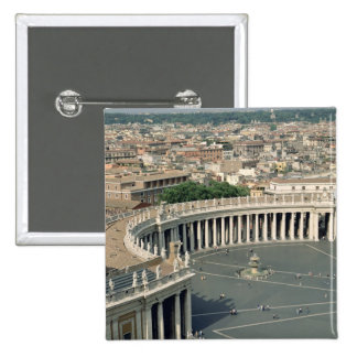 View of the piazza 2 inch square button