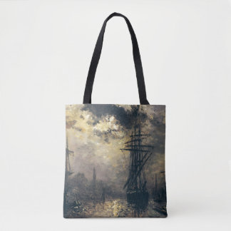 View of the Port, or The Windmills in Tote Bag