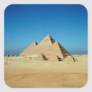 View of the Pyramids Square Sticker