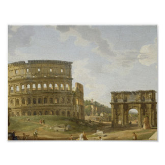 View of the Roman Forum by Giovanni Paolo Panini, Poster