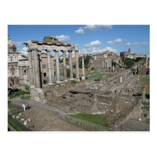 View of the Roman Forum of 179 AD Postcard