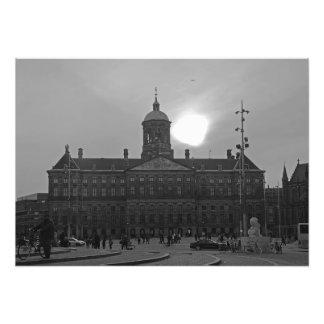 View of the Royal Palace at sunset Photo Print
