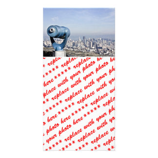 View of the San Francisco  (City Blurred) Customized Photo Card