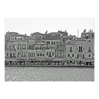 View of the sea promenade with restaurants. photo print