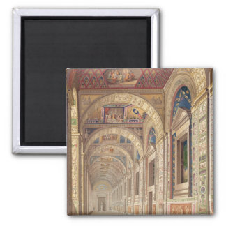 View of the second floor Loggia at the Vatican, wi Square Magnet