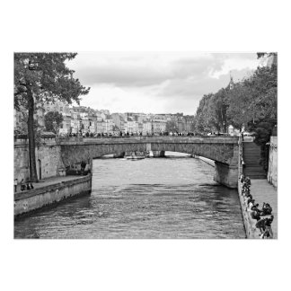 View of the Seine River embankment. Photo Print