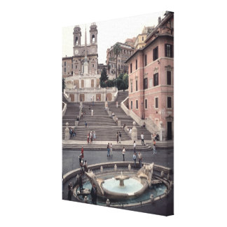 View of the Spanish Steps or Scalinata Canvas Prints